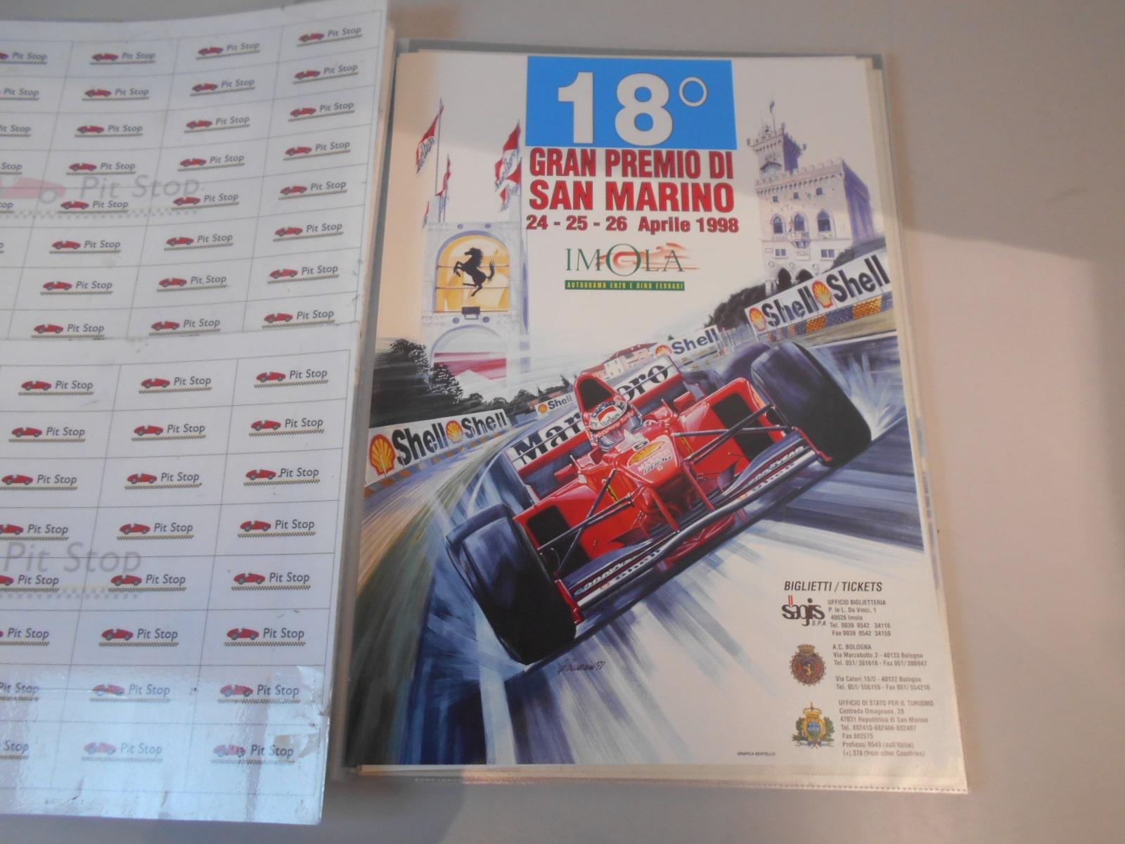 Locandina originale del Gran Premio di San Marino dell'anno 1998.