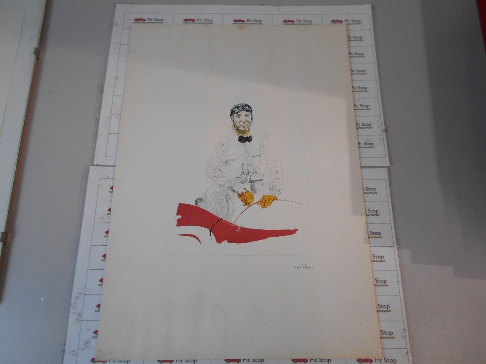 Litografia raffigurante Franco Cortese