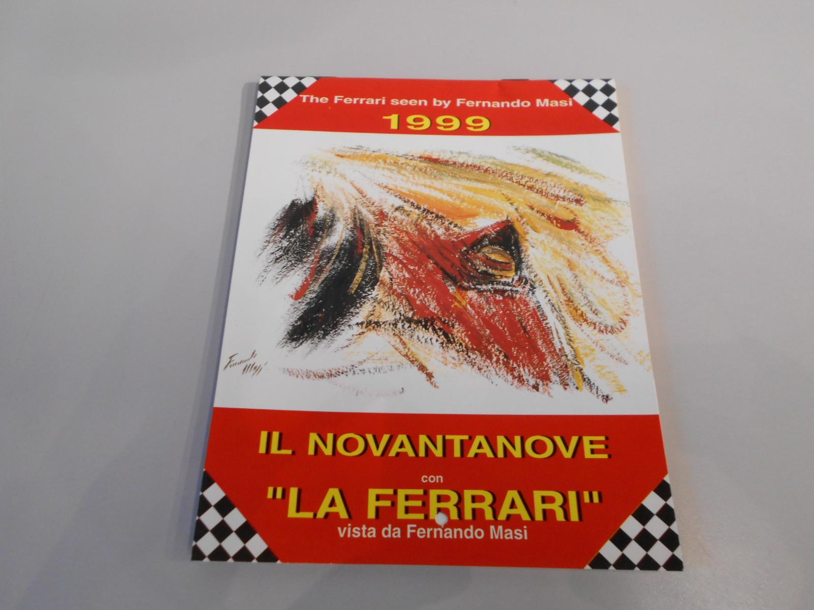 ANTQ402 CALENDARIO FERRARI 1999 DA TAVOLO