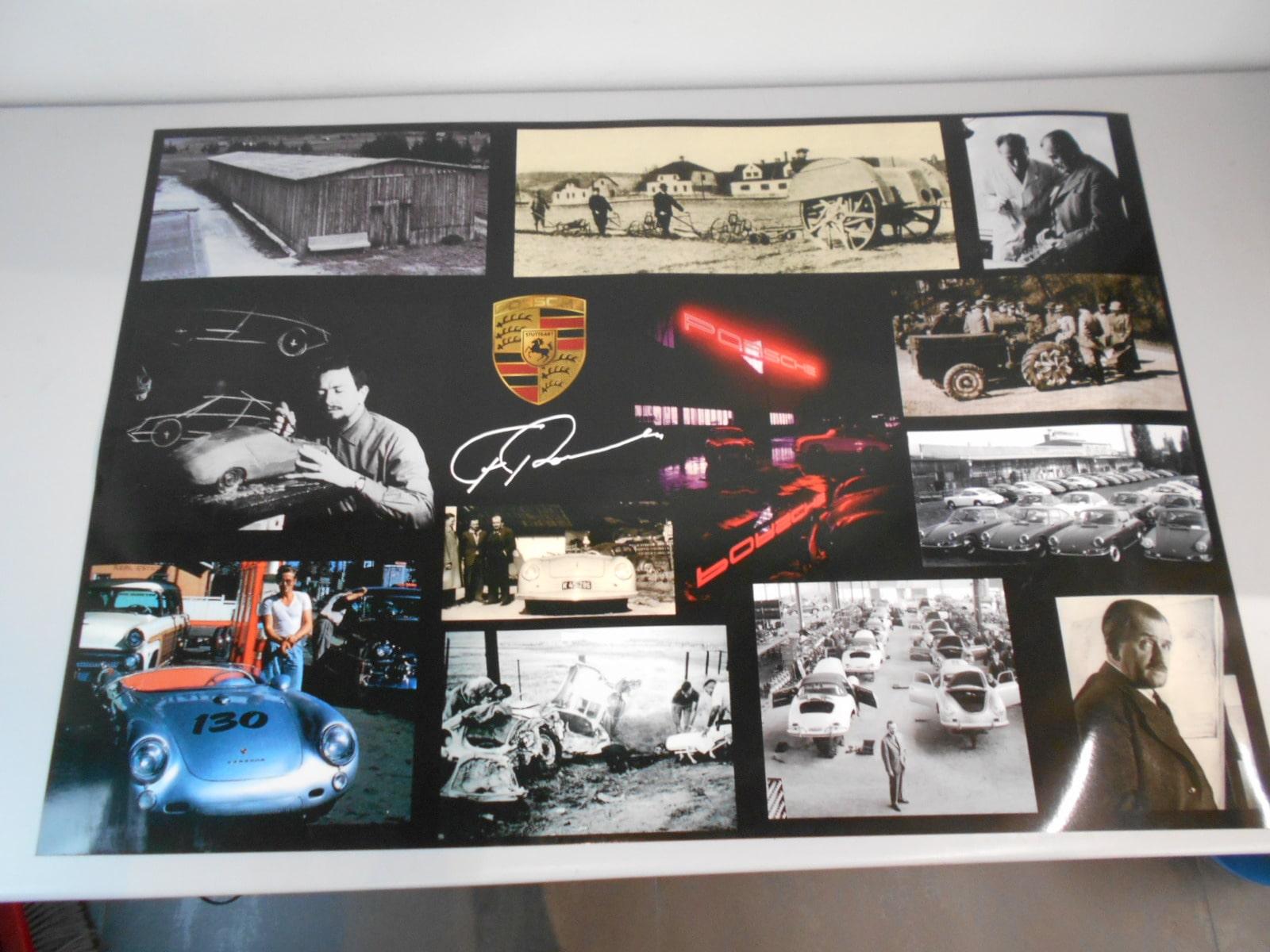 Porsche poster celebrativo della sua storia